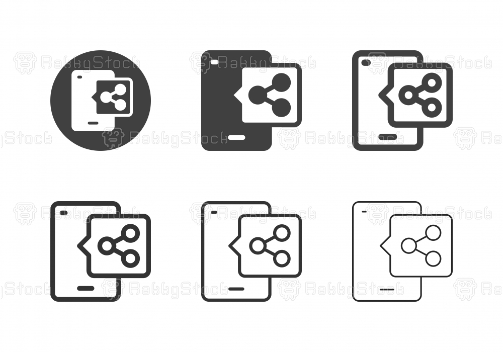 Mobile Sharing Icons - Multi Series