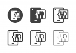 Mobile Food Ordering Icons - Multi Series