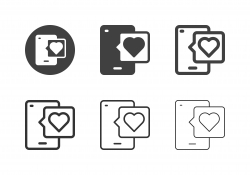 Mobile Dating Icons - Multi Series