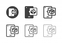 Mobile Delivering Icons - Multi Series
