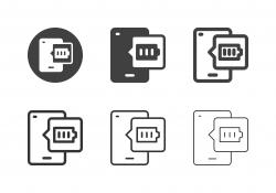 Mobile Full Battery Icons - Multi Series