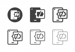 Mobile Empty Battery Icons - Multi Series