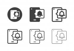 Mobile Push Notification Icons - Multi Series