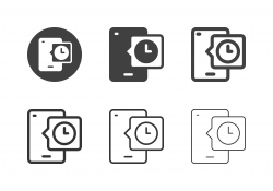 Mobile Clock Icons - Multi Series