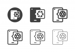 Mobile Camera Icons - Multi Series