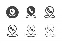 Telephone Service Point Icons - Multi Series