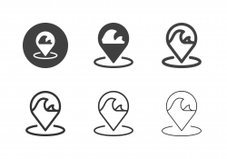 Ocean Zone Icons - Multi Series
