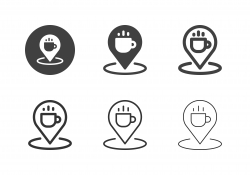 Coffee Cafe Icons - Multi Series