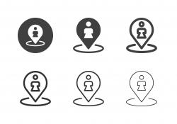 Female Toilet Icons - Multi Series