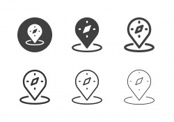Compass Location Icons - Multi Series