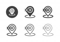 Target Shooting Tracking Icons - Multi Series
