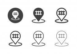 Railroad Crossing Icons - Multi Series