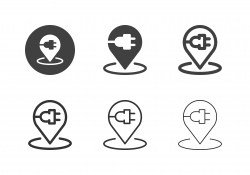 Charging Station Icons - Multi Series