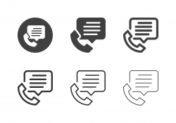 Telephone Message Icons - Multi Series