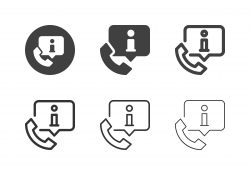 Telephone Information Icons - Multi Series