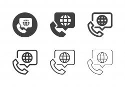 International Call Icons - Multi Series