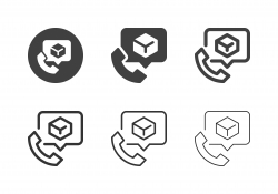 Telephone Delivering Service Icons - Multi Series
