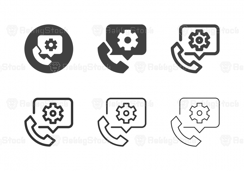 Telephone Setting Icons - Multi Series