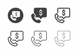 Financial Call Icons - Multi Series