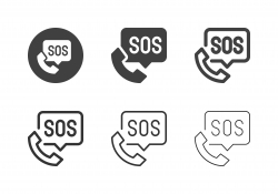 Emergency Call Icons - Multi Series