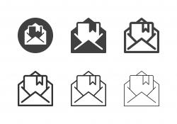 Diploma Mail Icons - Multi Series