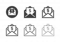 Financial Letter Icons - Multi Series