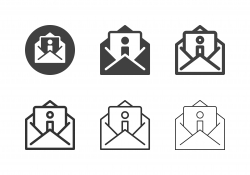 Information Letter Icons - Multi Series