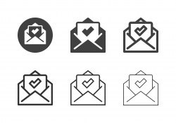 Acceptance Mail Icons - Multi Series