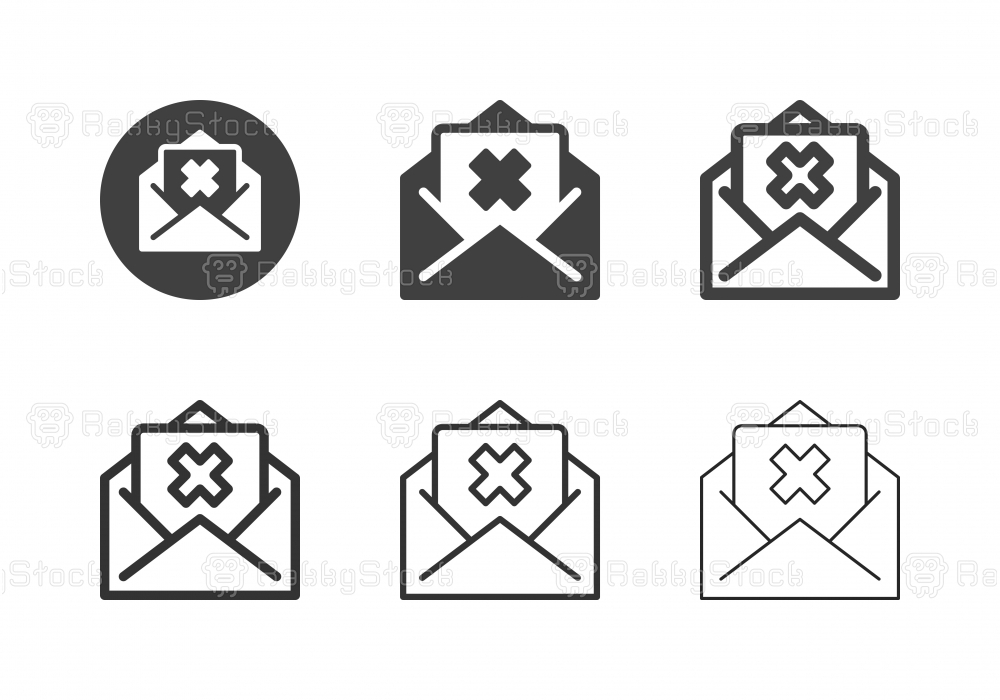 Rejection Mail Icons - Multi Series