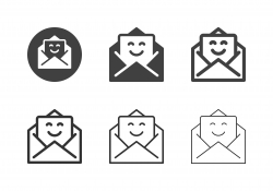 Happiness Letter Icons - Multi Series