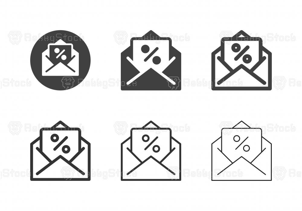 Voucher Letter Icons - Multi Series