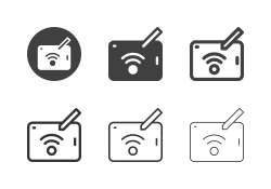 Wi-Fi on Tablet Icons - Multi Series