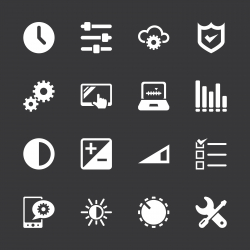 Settings Icons - White Series | EPS10