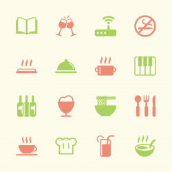 Restaurant Icons Set 2 - Color Series | EPS10