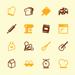 Baking Icons - Color Series | EPS10