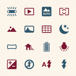 Camera Menu Icons Set 4 - Color Series | EPS10