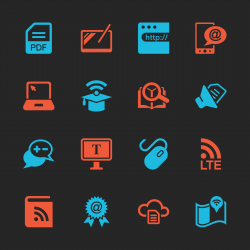 Online Education Icons - Color Series | EPS10