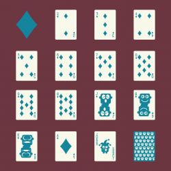 Diamond Suit Playing Card Icons - Color Series | EPS10