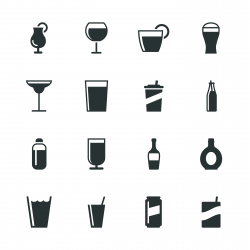 Drink Silhouette Icons | Set 2