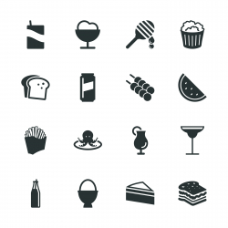 Food and Drink Silhouette Icons | Set 3