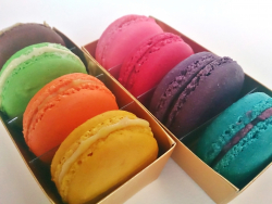 Colorful Macarons in Box