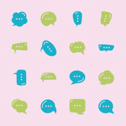 Speech Bubble Icons - Color Series | EPS10