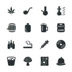 Drunk Party Silhouette Icons | Set 1