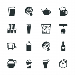 Drink Silhouette Icons | Set 3