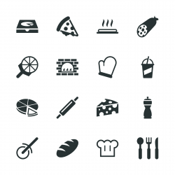 Pizza Silhouette Icons