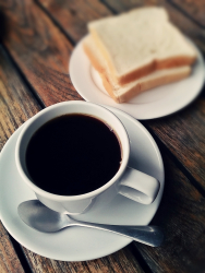 Black Coffee With Bread