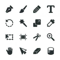 Design Tools Silhouette Icons