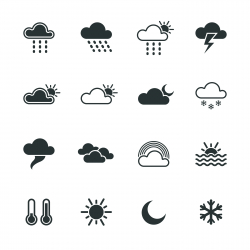 Weather Silhouette Icons