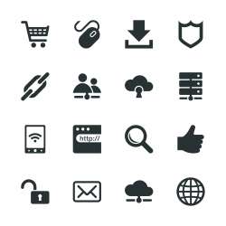 Internet and web Silhouette Icons | Set 2