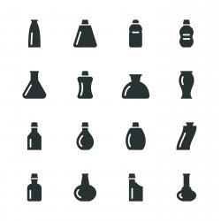 Bottles Silhouette Icons | Set 2